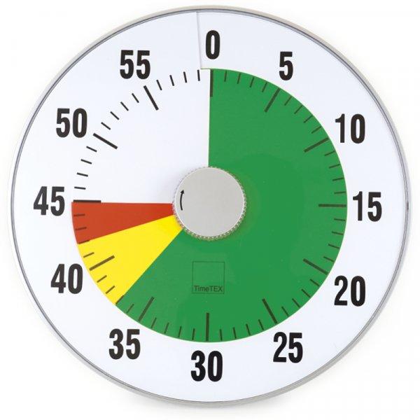 """TimeTEX Zeitdauer-Uhr """"lautlos"""" XL, 32 cm ø mit Ampelscheibe"""