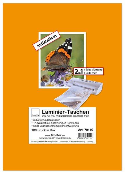 Laminier-Taschen 2in1 A3 2x80 mic glänzend-matt, 100 Stück