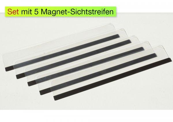 TimeTEX Magnet-Sichtstreifen, 5-tlg.