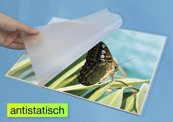 "Kalt-Laminier-Taschen ""Hitzefrei"" A4 340 mic glänzend, 25 Stück"