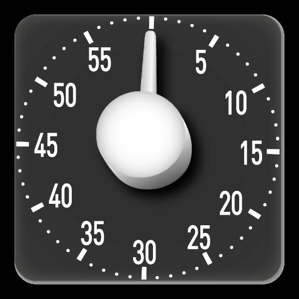 """Tafel-Zeitdauer-Uhr """"Automatik"""" magnetisch, 19x19 cm"""