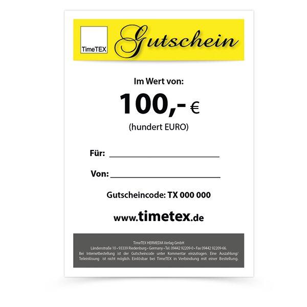 TimeTEX Gutschein 100,00 EUR