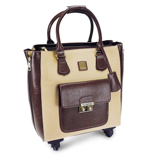 """TimeTEX Handtaschen-Trolley """"Bella"""", braun-natur"""