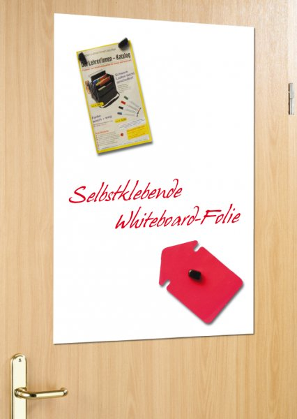 Whiteboard-Folie, selbstkl. + magnethaftend