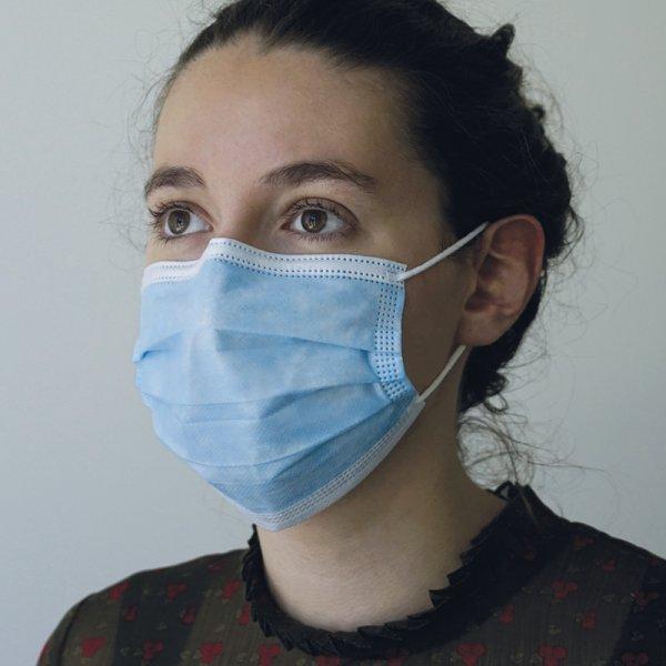 """Medizinische Einweg-Gesichtsmaske """"Einzel-Verpackung"""", Vliesstoff, 50 Stk."""