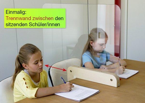 Hygiene-Schutzwand Flexaform für Tische, transparent