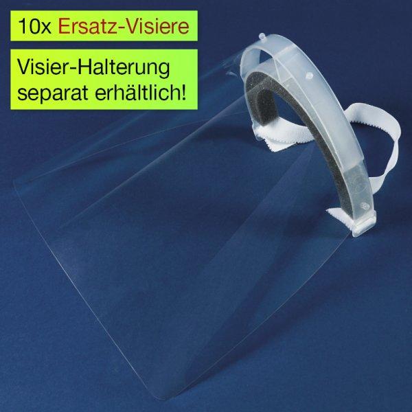 Ersatz-Visiere für Gesichts-Schutzschild Universal, 10-tlg.