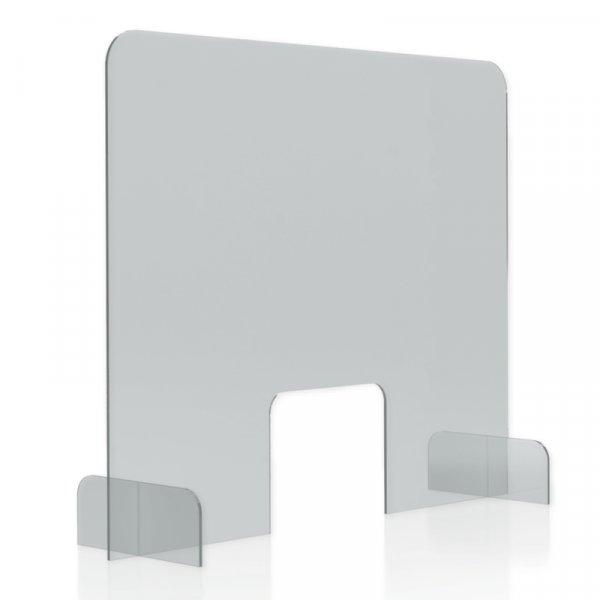 Hygiene-Schutzwand Standard XL für Tische, mit Durchreiche