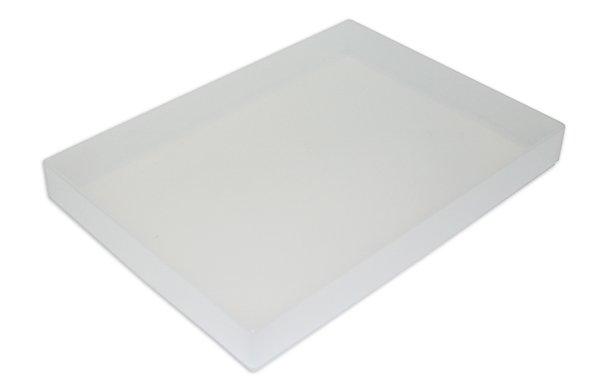 Kunststoff-Box A5 flach, transparent farblos