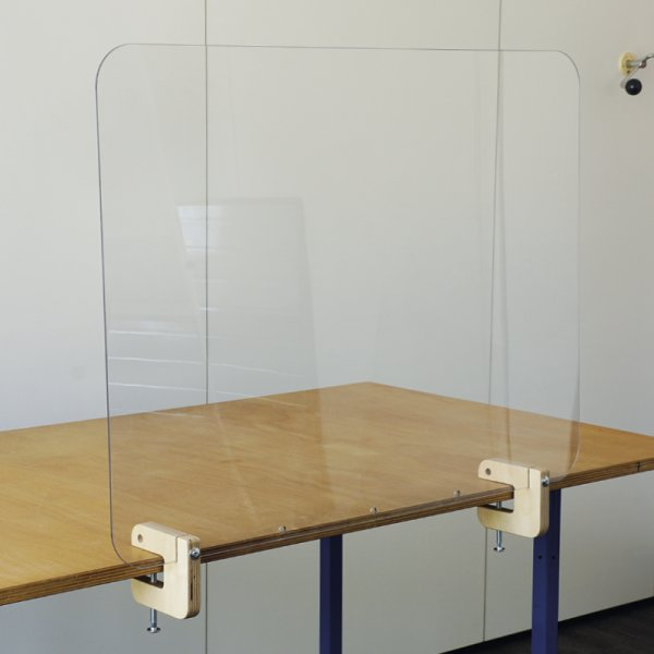 Hygiene-Schutzwand Limes für Tische, transparent