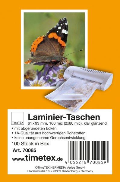 """Laminiertaschen """"Spielkarte"""" 60x90 mm, 2x80 mic klar"""