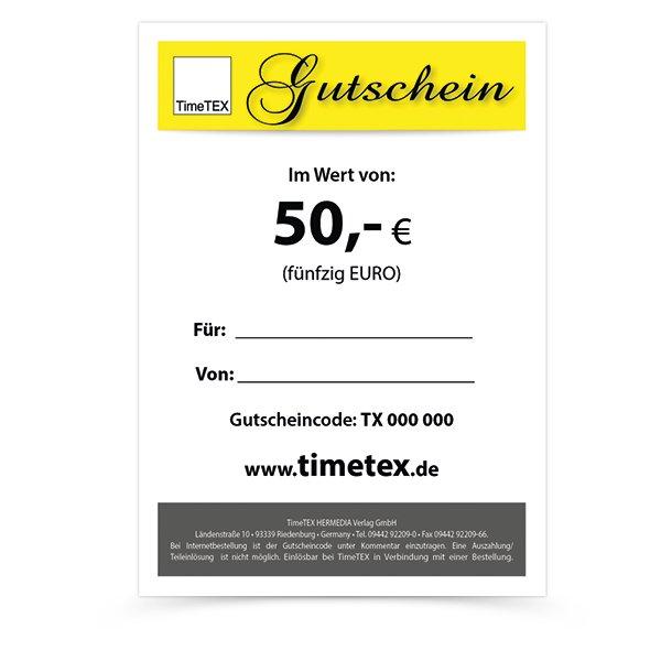 TimeTEX Gutschein 50,00