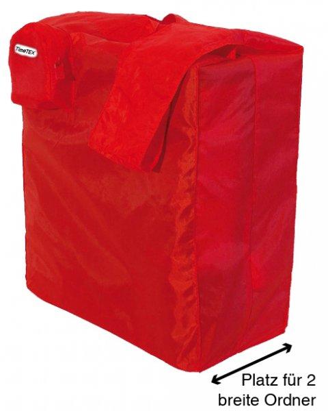 Falt-Tragetasche aus Nylon, rot
