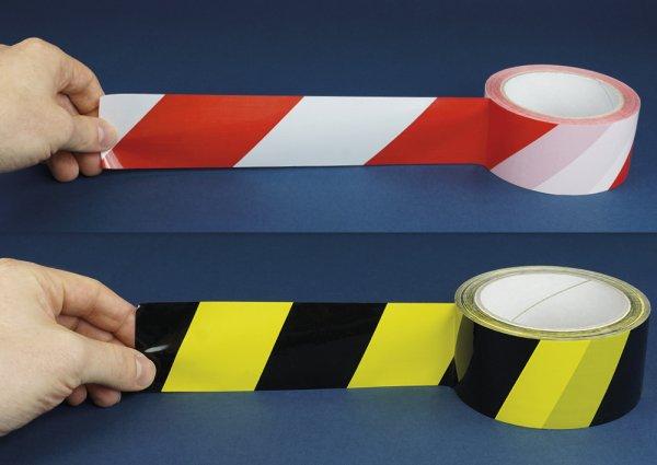 Warnband/Signalband selbstklebend, 66 m lang