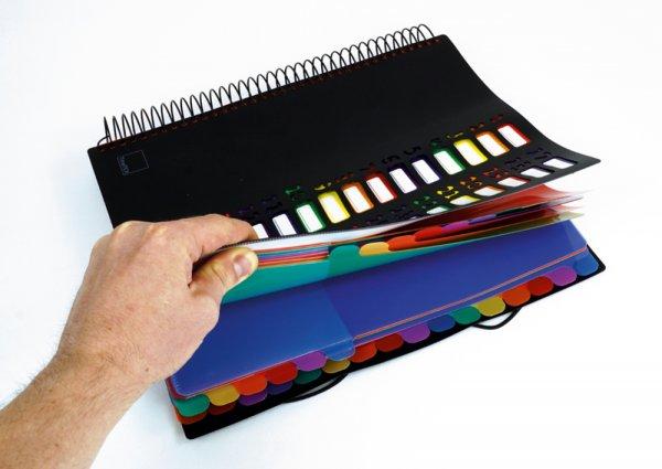 TimeTEX Tisch-Fächermappe 1-32 A4, farbig mit Verschlussgummi