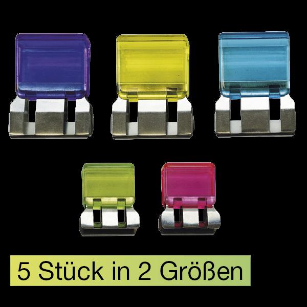 Set Papierstapel-Klammern, 5-tlg., transparent