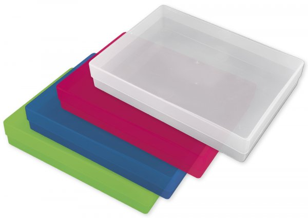 Kunststoff-Boxen A4-Plus, transparent