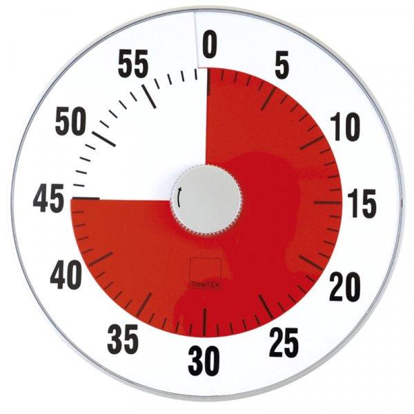 """TimeTEX Zeitdauer-Uhr """"lautlos"""" XL, 32 cm ø"""