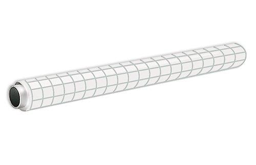 Whiteboard-Folie statisch, 20 m auf Rolle, kariert matt